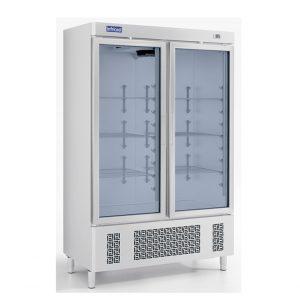 Armoire Positive 2 portes Vitrées 1100L INFRICOOL