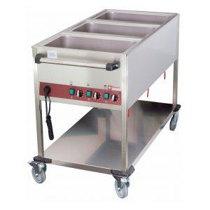 Chariot thermique 3 GN 1/1 h 150 mm, 3 températures