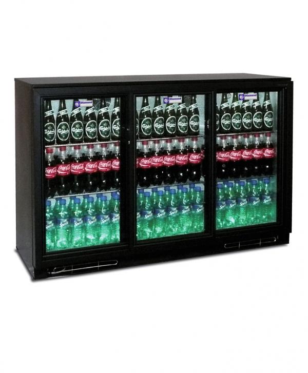Refroidisseur de bouteilles, 3 portes coulissantes, 343 litres